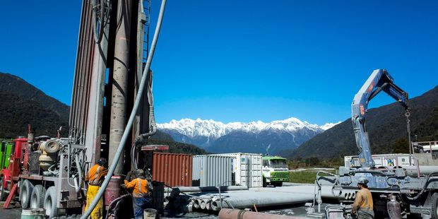 Loading Engineers bore a kilometre into the Alpine Fault near Franz Josef in 2014. Photo / Supplied