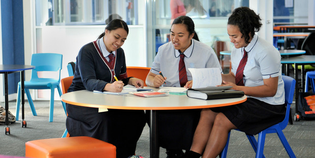 Pupils studying at Kelston Girls College. Photo / supplied