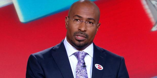 Loading The usually stoic Van Jones appeared to be choked up, almost fighting back tears on live television. Photo / CNN Twitter