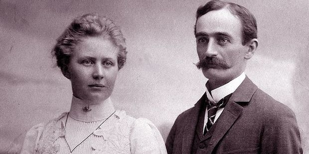 The president-elect's grandparents Friedrich and Elizabeth Trump. Photo / Wikimedia