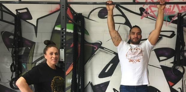 Erena Kara (left) and Bo McGee helped to open Kaikohe's 405 community gym. Photo / Simon Collins