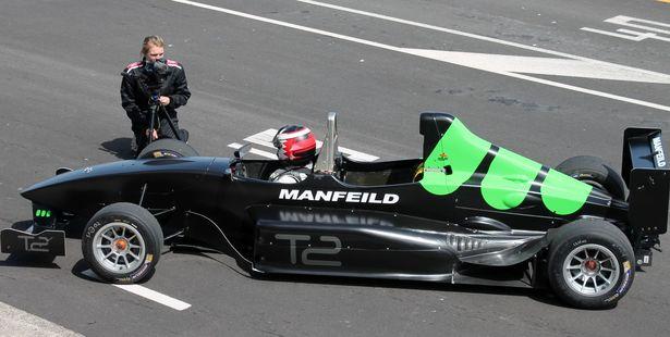 PROFESSIONAL: T2 driver Gavin Halls chats with NZ Herald Focus' Sieska Verdonk. PHOTO: ALECIA ROUSSEAU