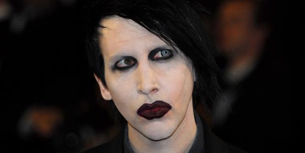 Marilyn Manson's got it in for Trump. Photo / Getty