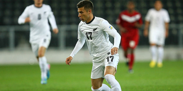 Kosta Barbarouses is starting up front for the All Whites. Photo / Getty