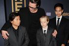 Brad Pitt with kids Pax Thien Jolie-Pitt, Shiloh Nouvel Jolie-Pitt and Maddox Jolie-Pitt. Photo / Getty Images