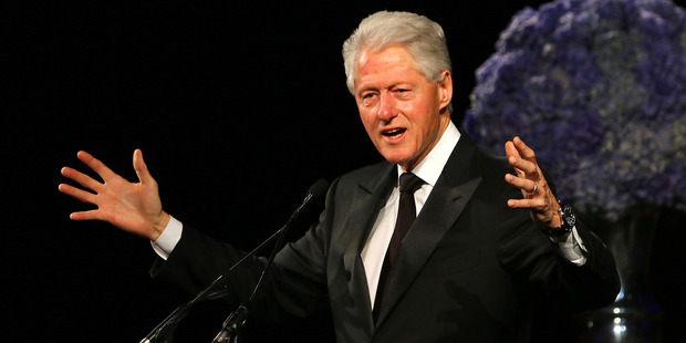 Former US President Bill Clinton speaking in London, England, 2015. Photo / Getty