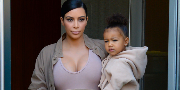 Kim Kardashian West and North West are seen walking in Soho. Photo / Getty