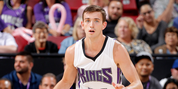 David Stockton in action for the Sacramento Kings. Photo / Getty Images