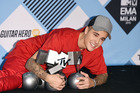 Justin Bieber poses in the winners room at the MTV EMA's 2015 at Mediolanum Forum on October 25, 2015 in Milan, Italy. Photo / Getty