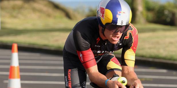 Braden Currie during the Port Tauranga 1/2 Ironman Triathlon. Photo / Getty Images