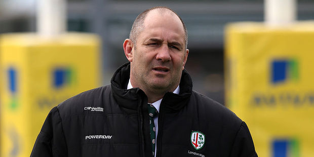 Tom Coventry during his tenure with London Irish. Photo / Getty Images