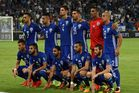 Israel pose for a photo prior to the FIFA 2018 World Cup Qualifier between Israel and Italy. Photo / Getty Images