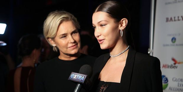 Yolanda Hadid and Bella Hadid attend Global Lyme Alliance's 2016 United For A Lyme-Free World Gala, at Cipriani. Photo / AP