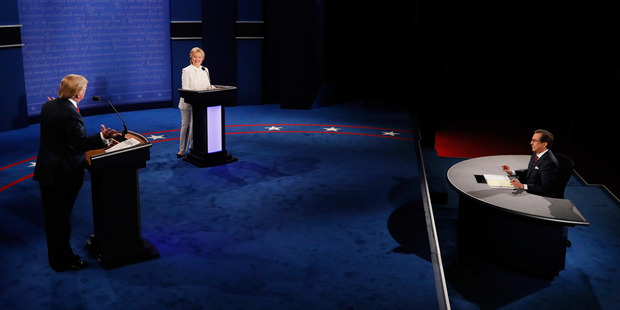 The final presidential debate between Hillary Clinton And Donald Trump held in Las Vegas. Photo / Getty