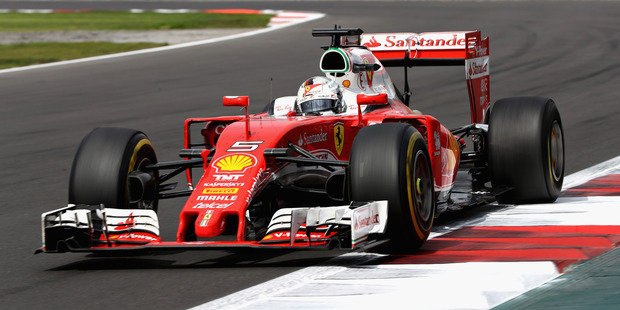 Sebastian Vettel on track during the Formula One Grand Prix of Mexico. Photo / Getty Images