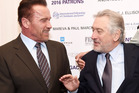 Robert De Niro has no time for a pic with Arnold Schwarzenegger. Photo / Getty Images