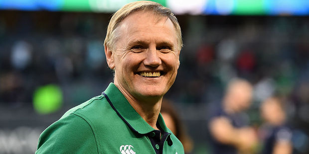 Loading Ireland head coach Joe Schmidt celebrates victory over the All Blacks. Photo / Getty