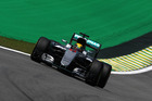Lewis Hamilton during practice for the Formula One Grand Prix of Brazil. Photo / Getty Images