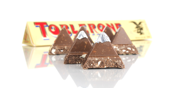Toblerone Swiss has widened the gap between its chocolate triangles and people aren't happy. Photo / Getty Images.