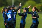 White Ferns captain Suzie Bates (right) celebrates with her team mates. Change is in the pipeline for women's cricket in New Zealand. Photo/Photosport.co.nz
