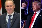 John Key and Donald Trump. Photos / Mark Mitchell / AP