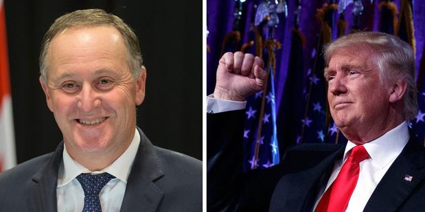 Loading John Key and Donald Trump. Photos / Mark Mitchell / AP