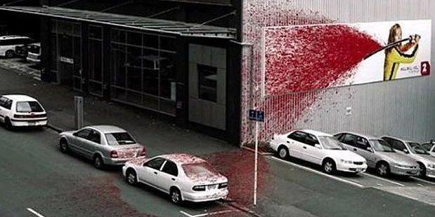 The New Zealand Kill Bill billboard. Photo / Supplied