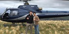 All Blacks legend Richie McCaw gave Bollywood star Sidharth Malhotra a personal helicopter tour over the South Island today. Photo / Facebook