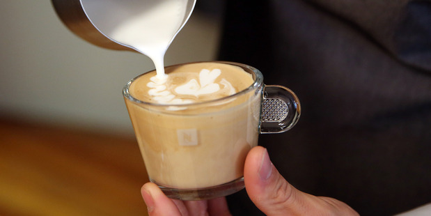 Top baristas will be on-hand to teach coffee-loving Kiwis how to create simple latte art from 7am - 2pm over the 11th - 20th November. Photo / Michael Bradley.