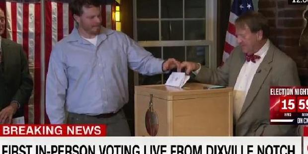 Wait, why hasn't the voting slip gone in? We're on global TV. Photo / CNN