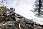Fire damage to Browns Island / Motukorea. Photo / Michael Craig