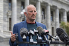Gareth Morgan announcing the formation of the Opportunities Party. Photo / Mark Mitchell