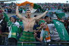 Social media went into meltdown as well as the Ireland fans celebrating at the stadium. Photo / Brett Phibbs