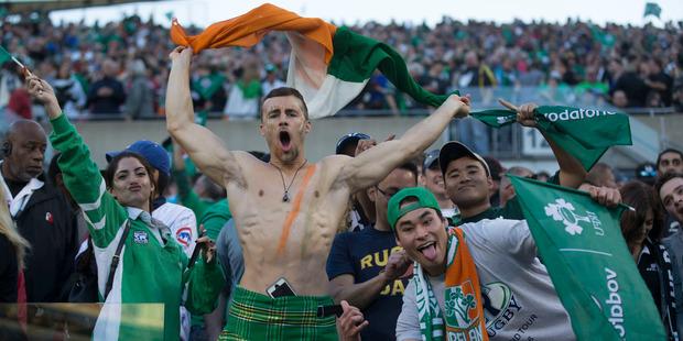 Loading Social media went into meltdown as well as the Ireland fans celebrating at the stadium. Photo / Brett Phibbs