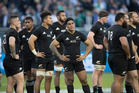 All Blacks stunned after losing to Ireland during the test match between the New Zealand All Blacks and Ireland, held at Solider Field, Chicago. Photo / Brett Phibbs.