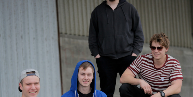 Whanganui band Drones, from left Ethan Coleman, Adam Robinson, Andrew Condon and Isaac Chamberlain. PHOTO/SUPPLIED