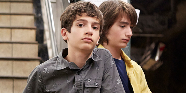 Michael Barbieri and Theo Taplitz  in a scene from Little Men.