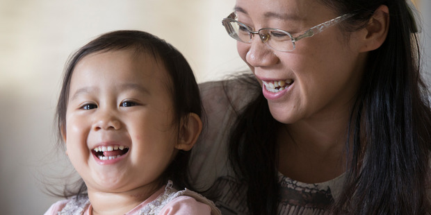 Loading Michelle Cheng with her two-year-old daughter, Chelsey, who has just been diagnosed with a rare form of stage-four cancer. Photo / Nick Reed