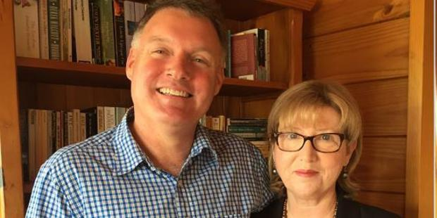 Martin and  Sandy McAllen. He is the new principal of Whanganui High School.