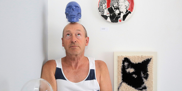 Paul Rayner channels Andy Warhol at the Andy Candy, the latest show at the Rayner Brothers Gallery. PHOTO/BEVAN CONLEY