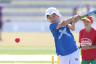 BIG HIT: Freddie Coxhead batting for Scotland (Bethlehem College Primary) against Zimbabwe (Pillans Point Primary).PHOTO: JOHN BORREN