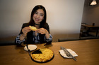 Avril Liang said the pizza has the durian flavour but not the very strong durian smell. Picture / Dean Purcell