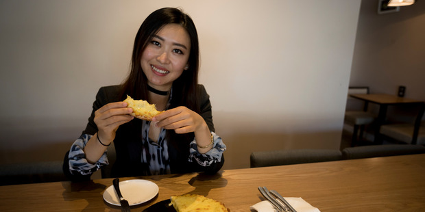 Loading Avril Liang said the pizza has the durian flavour but not the very strong durian smell. Picture / Dean Purcell