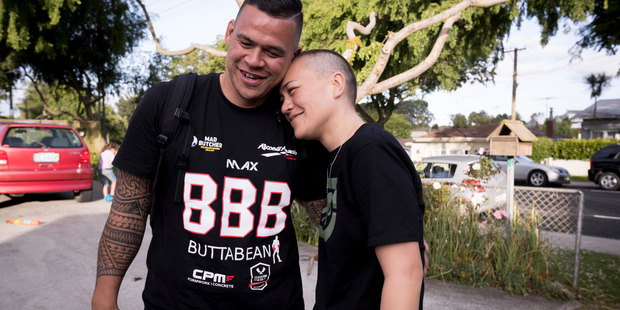 Loading Vicki Letele is hugged by brother Dave Letele as she arrives home after being released from prison due to her terminal cancer. Photo / Dean Purcell.