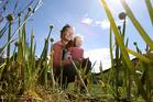 FLOURISHING: The Gullick family has not bought a vegetable since 2015. Emily and daughter Lark, 2. PHOTO/JOHN BORREN
