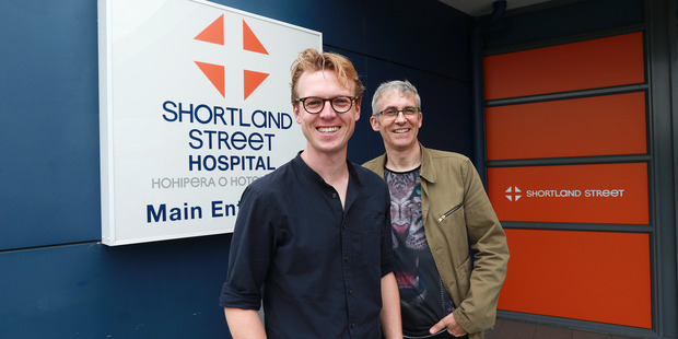 Guy Langford and Simon Bennett are involved in an upcoming project to make a musical based on the popular Kiwi TV show Shortland Street. Photo / Doug Sherring