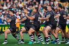 The NZ Kiwis perform the Haka. Photo / Photosport.co.nz
