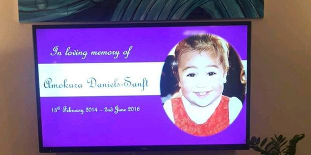 Gustav Otto Sanft, known as Gus, is charged with the manslaughter of 2-year-old Amokoura Daniels-Sanft (pictured).