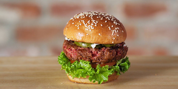 The Impossible Burger - a burger patty made from 100 per cent vegetable ingredients.