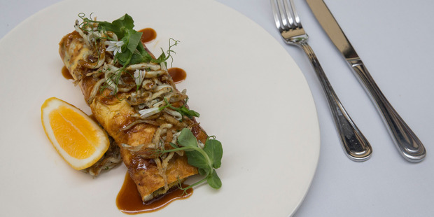 Crispy whitebait with a whitebait omelette by Kate Fay, head chef at Cibo. Photo / Getty Images